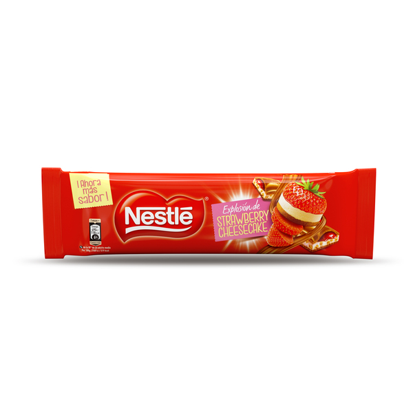 Nestlé chocolate relleno strawberry cheesecake tableta de 240g.