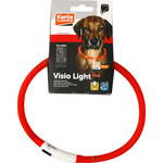 Karlie visio light dog collar led recargable para perros talla única color naranja