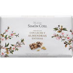Simon Coll chocolate con leche almendras enteras tableta de 200g.
