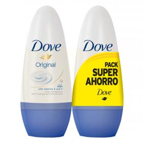 Original desodorante con vitaminas f roll on dove de 50ml. por 2 unidades