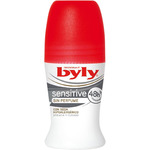 Byly desodorante roll on classic sensitive sin perfume con seda envase de 50ml.