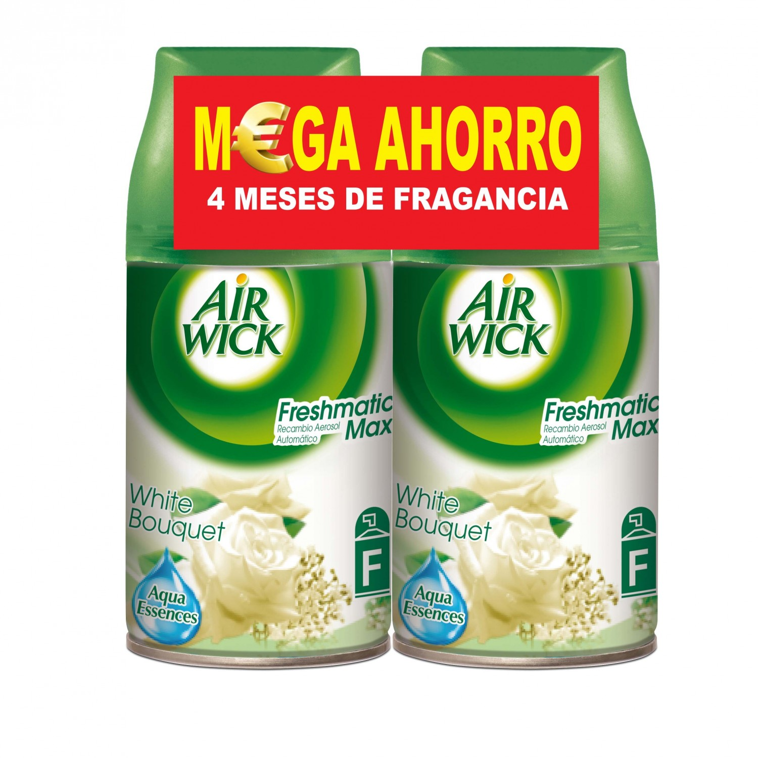Air Wick fresh matic ambientador automatico white bouquet pack ahorro ades 2