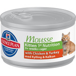 Hill's Nature's best kitten mousse pollo pavo gatitos de 85g. en lata