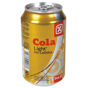 Dia refresco cola light sin cafeina de 33cl. en lata