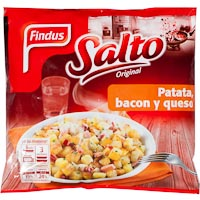 Findus salto patata ternera bacon de 400g.