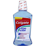 Colgate enjuague bucal triple action menta fresca de 50cl. en bote