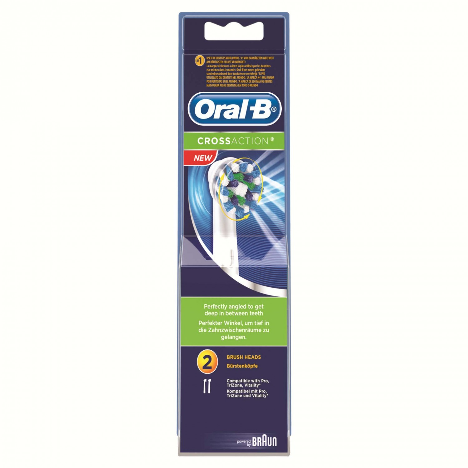 Oral B recambio cepillo dental electrico cross action por 2 unidades