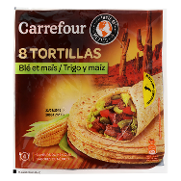Carrefour tortillas maiz de 320g.
