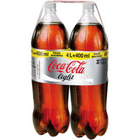 Coca Cola refresco cola light de 2,2l. por 2 unidades
