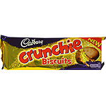 Cadbury crunchie biscuits galletas con chocolate estuche de 130g.