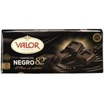 Valor chocolate negro 82% de 170g.