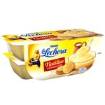 La Lechera natillas sabor galleta de 115g. por 4 unidades