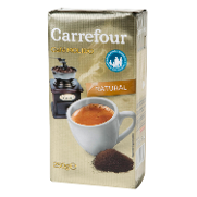 Carrefour cafe molido natural torrado de 250g.
