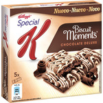 Kelloggs special k biscuits moments barritas cereales con chocolate luxe 5 packs x 2 biscuits estuche de 125g.