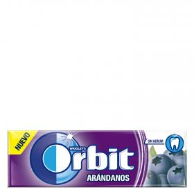 Orbit chicles con sabor arandanos de 14g.