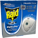 Raid insecticida night & day antimosquitos 1 recambio