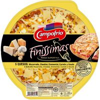 Campofrio pizza finissimas 5 quesos de 295g.