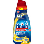Finish detergente lavavajillas todo en 1 plus en gel concentrado limon brillo proteccion del cristal 50 en botella