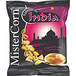 Grefusa mister corn india cocteles frutos secos sabor curry indio de 140g. en bolsa