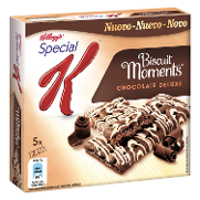 Kelloggs barrita chocolate deluxe biscuits moments special k de 125g.