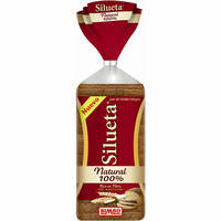 Silueta pan natural 100% bimbo de 450g.