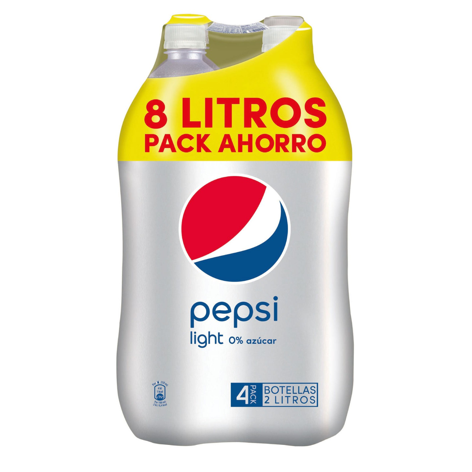 Pepsi light de 2l. por 4 unidades en botella