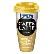 Kaiku cafe latte toque vainilla de 23cl.
