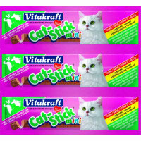 Vitakraft cat stick mini snack pato gatos envase por 3 unidades