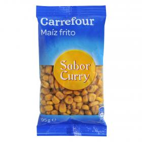 Carrefour maiz frito al curry de 95g.