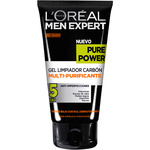 L'oreal Men hombre expert pure power gel limpiador carbon multi purificante 5 en 1 antiimperfecciones tubo de 15cl.