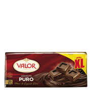 Valor chocolate puro xl de 350g.