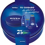 Nivea 75 aniversario con body milk nutritivo gel ducha creme care creme desodorante roll on liposan de 50ml. en bote