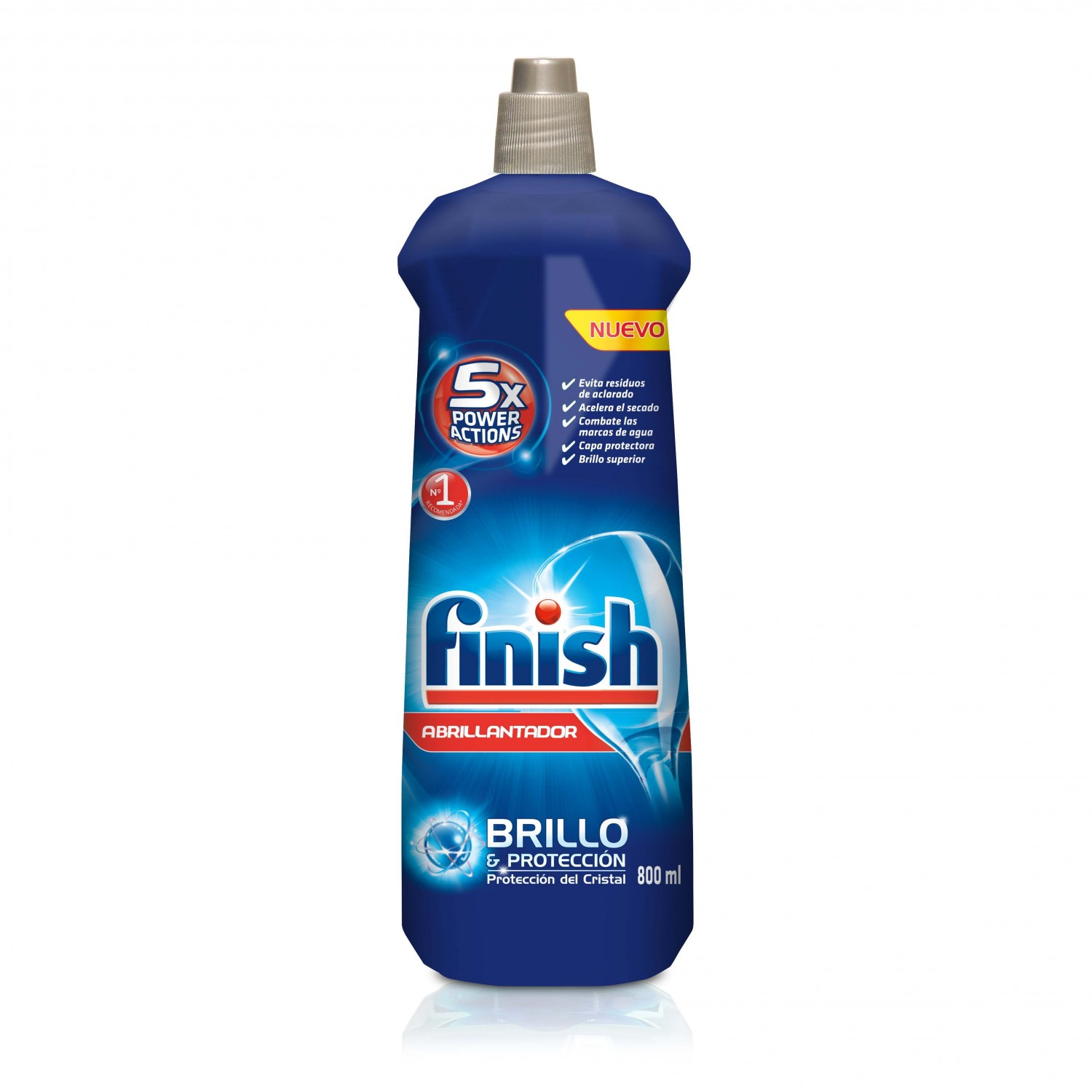 Finish abrillantador lavavajillas brillo proteccion del cristal de 80cl. en botella