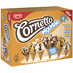Cornetto helado cono mix mini chocolate caramelo clasico de 60ml. por 6 unidades