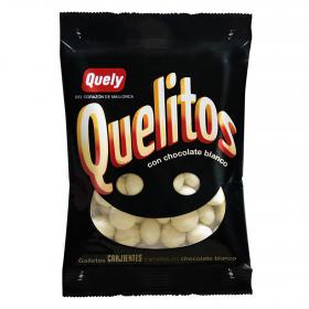 Quely quelitos galletas bañadas en chocolate blanco de 70g.