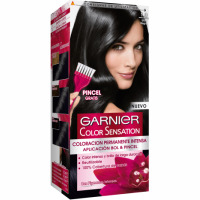 Garnier color sensation tinte ultra negro nº 1 0 coloracion permanente intensa pincel gratis en caja