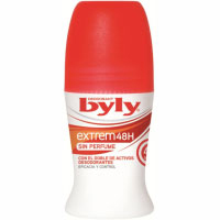 Byly desodorante extreme roll on 50% de 50ml.
