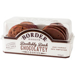 Border biscuits galletas con chocolate negro brownie estuche de 150g.