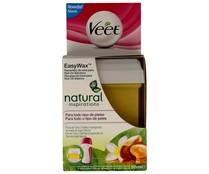 Veet recambio cera utilizar con easy wax roll on electrico piernas cuerpo envase pieles sensibles de 50ml.