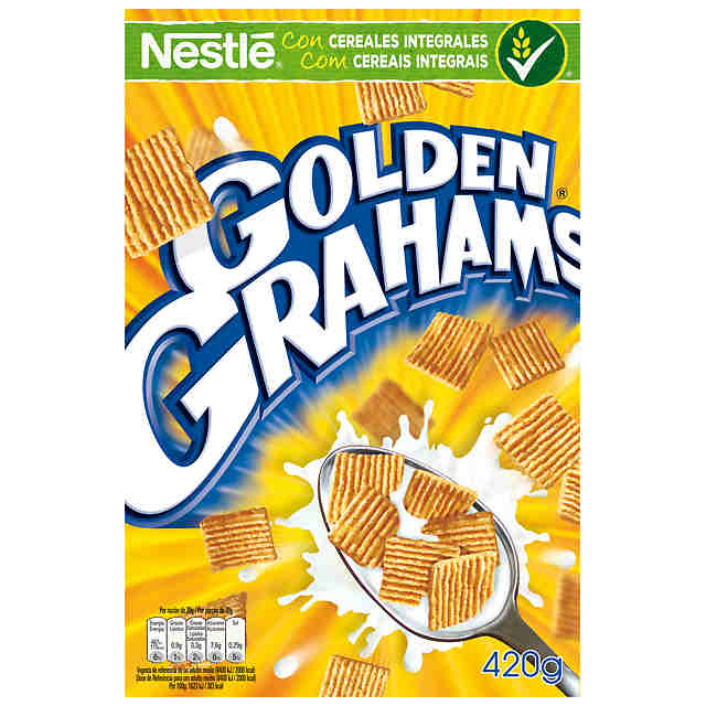 Golden Grahams cereal maiz trigo nestle de 420g. en caja