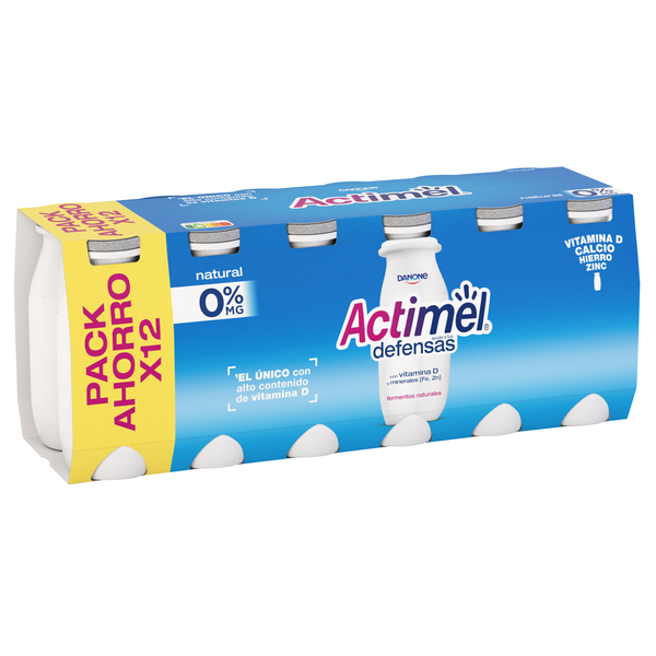 Actimel actimel your liquido natural 0% de 10cl. por 12 unidades