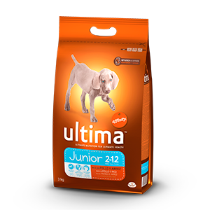 Ultima junior rico en pollo arroz perro de 3kg.