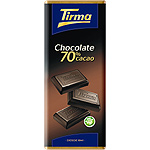 Tirma chocolate negro 70% cacao tableta de 75g.
