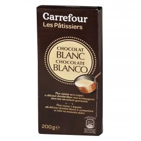 Carrefour chocolate blanco fundir de 200g.