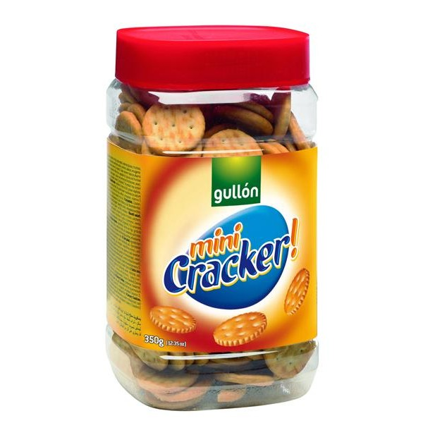 Gullón galletas saladas mini cracker de 350g. en bote