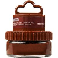 Eroski crema color marron aplicador de 50ml. en bote