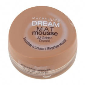 Maybelline maquillaje dream mat mousse 32 golden