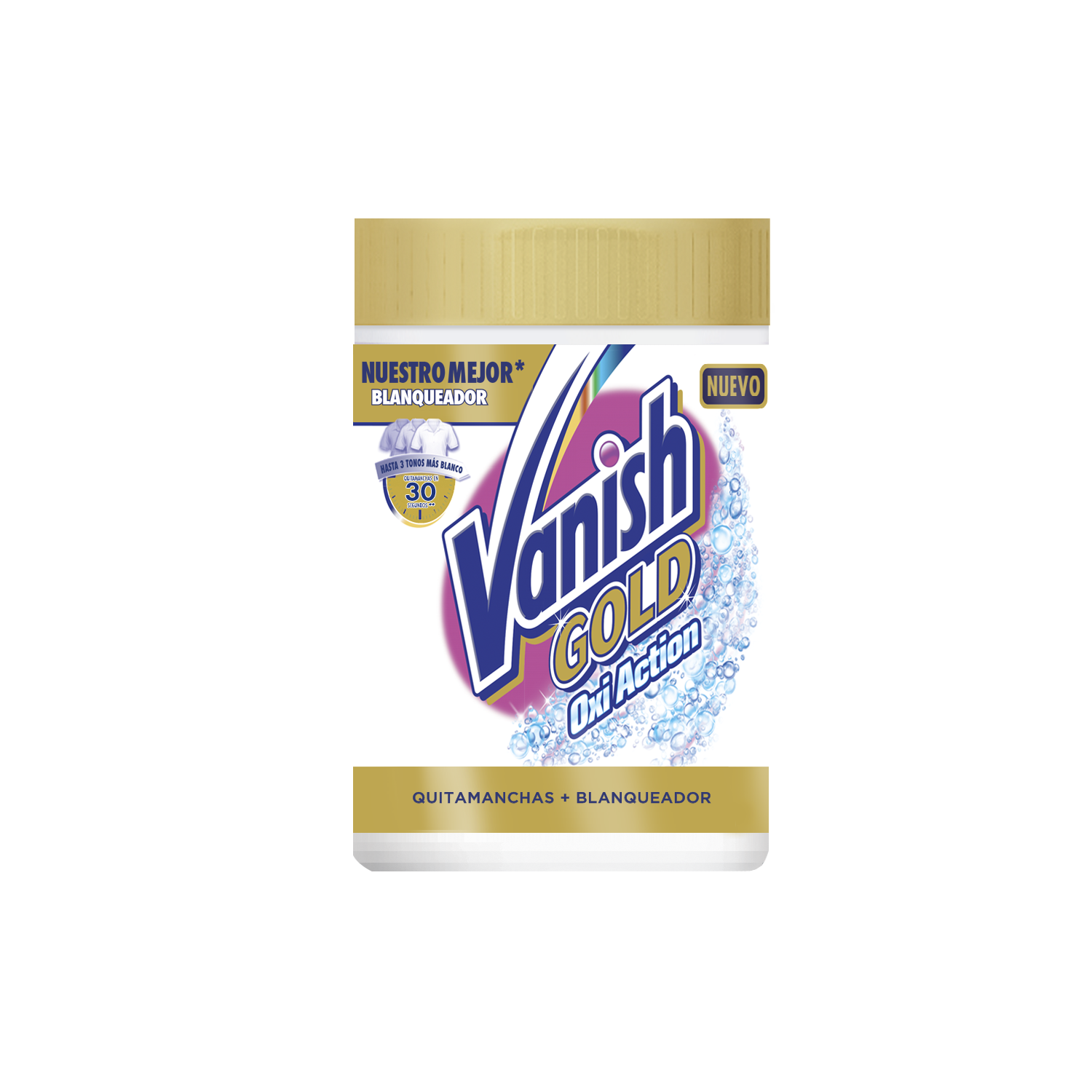 Vanish quitamanchas blanqueador gold oxiaction de 940g.