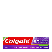 Colgate maximum pasta dentifrica protection caries menta fresca con neutralizador acidos de azucares tubo de 75ml.