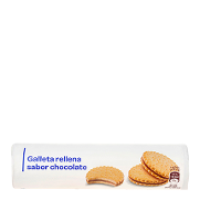 Carrefour Discount galletas rellenas chocolate de 250g.